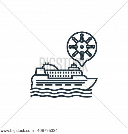 cruiser icon isolated on white background from coronavirus collection. cruiser icon thin line outlin
