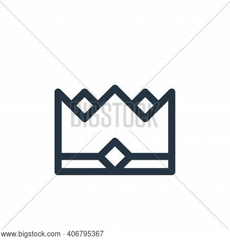 crown icon isolated on white background from europe collection. crown icon thin line outline linear
