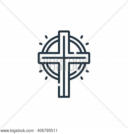 cross icon isolated on white background from mexico collection. cross icon thin line outline linear