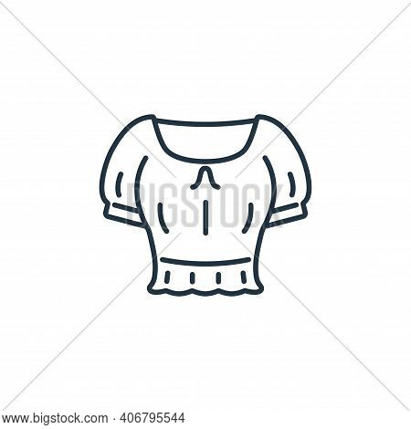 crop top icon isolated on white background from clothes and outfit collection. crop top icon thin li