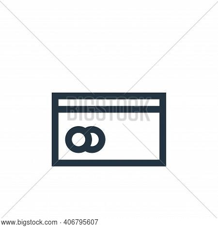 credit card icon isolated on white background from payment collection. credit card icon thin line ou