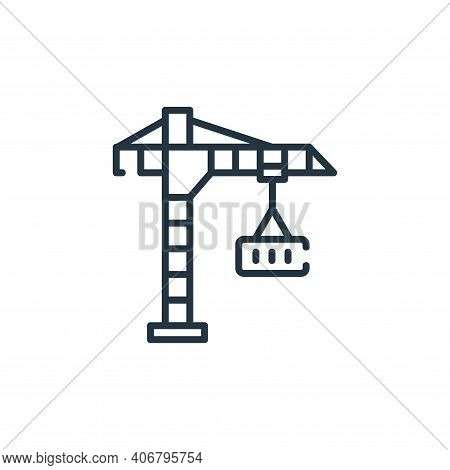 crane icon isolated on white background from industrial process collection. crane icon thin line out