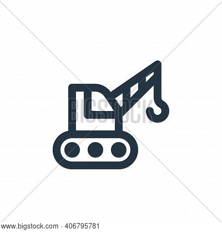crane icon isolated on white background from labour day collection. crane icon thin line outline lin