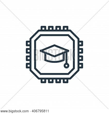 cpu icon isolated on white background from elearning collection. cpu icon thin line outline linear c