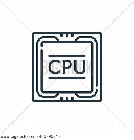 cpu icon isolated on white background from technology of the future collection. cpu icon thin line o