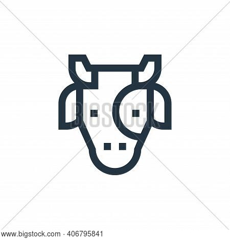 cow icon isolated on white background from holland collection. cow icon thin line outline linear cow