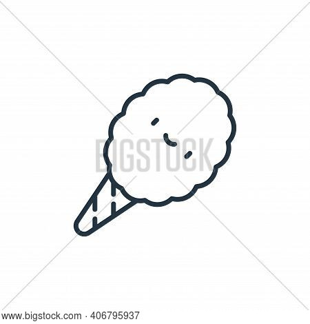cotton candy icon isolated on white background from circus collection. cotton candy icon thin line o