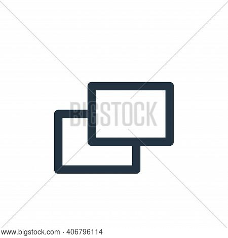 copy icon isolated on white background from multimedia collection. copy icon thin line outline linea