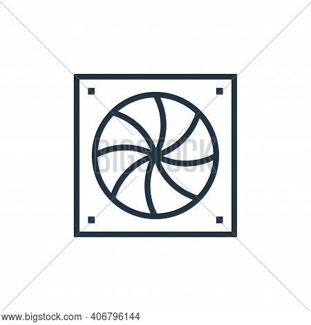 cooler icon isolated on white background from hardware collection. cooler icon thin line outline lin