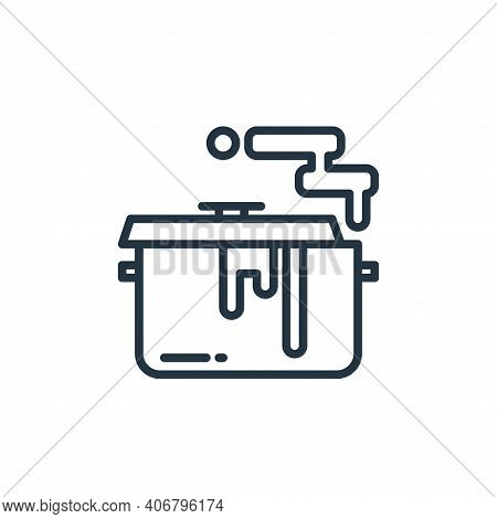 cooking icon isolated on white background from stay at home collection. cooking icon thin line outli