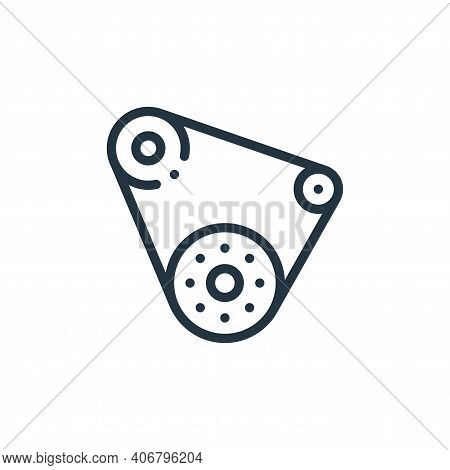 conveyor belt icon isolated on white background from autoracing collection. conveyor belt icon thin