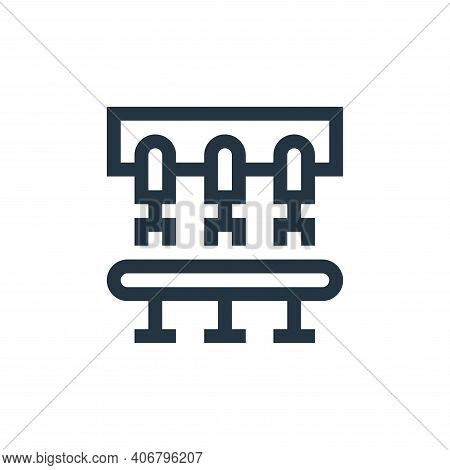 conveyor icon isolated on white background from industrial process collection. conveyor icon thin li