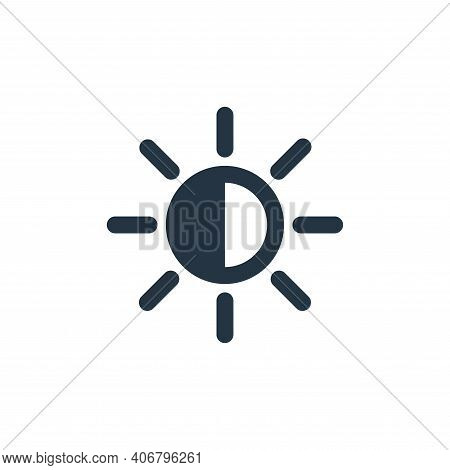 contrast icon isolated on white background from user interface collection. contrast icon thin line o