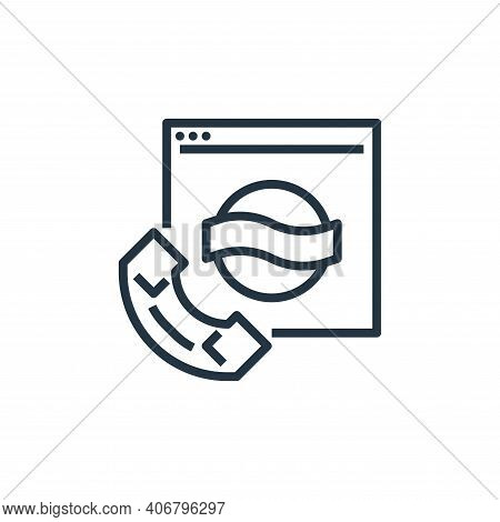 contact icon isolated on white background from branding collection. contact icon thin line outline l