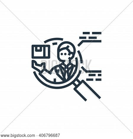 competitor icon isolated on white background from branding collection. competitor icon thin line out