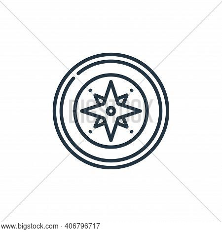compass icon isolated on white background from management collection. compass icon thin line outline