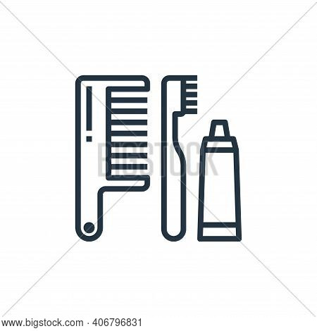 comb icon isolated on white background from hotel collection. comb icon thin line outline linear com