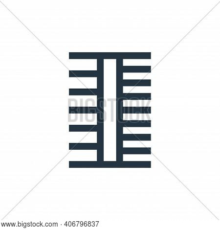 comb icon isolated on white background from pet shop collection. comb icon thin line outline linear