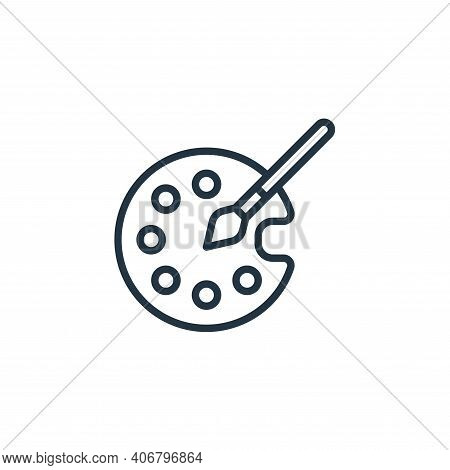 color palette icon isolated on white background from graphic design collection. color palette icon t