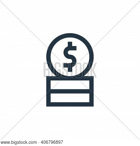 coin icon isolated on white background from payment collection. coin icon thin line outline linear c