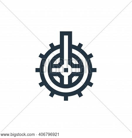 cogwheel icon isolated on white background from manufacturing collection. cogwheel icon thin line ou