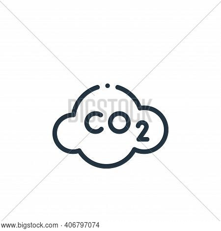co icon isolated on white background from ecology collection. co icon thin line outline linear co sy