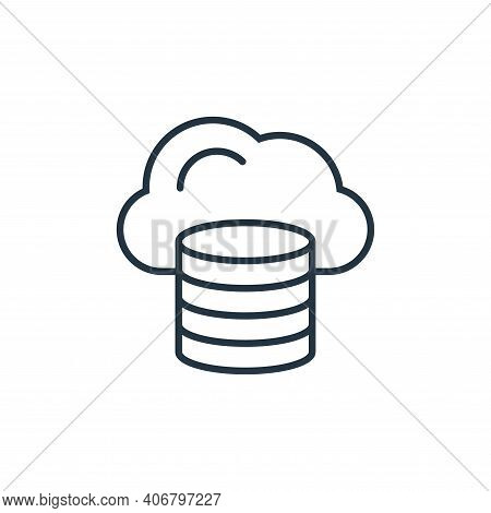 cloud database icon isolated on white background from internet of things collection. cloud database