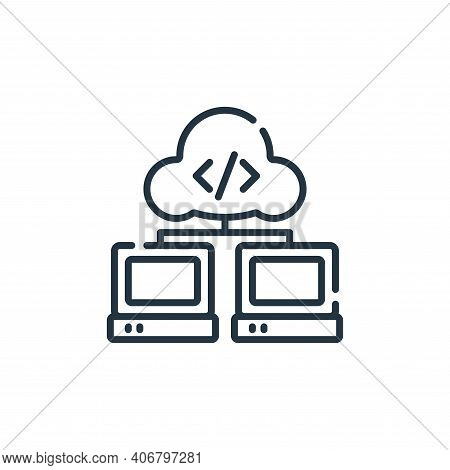 cloud computing icon isolated on white background from database and servers collection. cloud comput