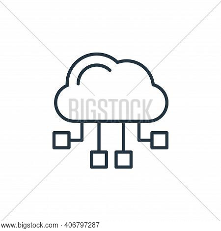 cloud computing icon isolated on white background from internet of things collection. cloud computin