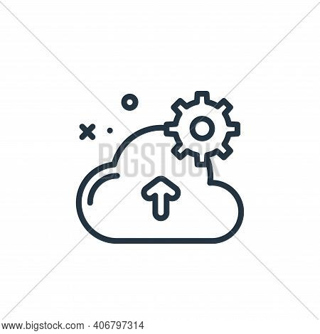cloud icon isolated on white background from work from home collection. cloud icon thin line outline