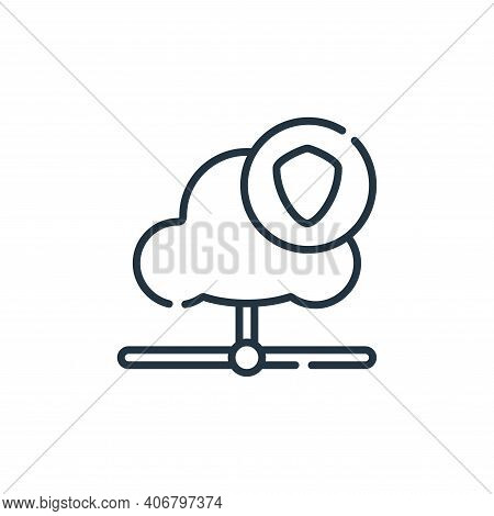 cloud icon isolated on white background from database and servers collection. cloud icon thin line o