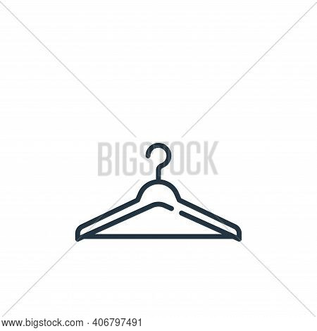 clothes hanger icon isolated on white background from mall collection. clothes hanger icon thin line