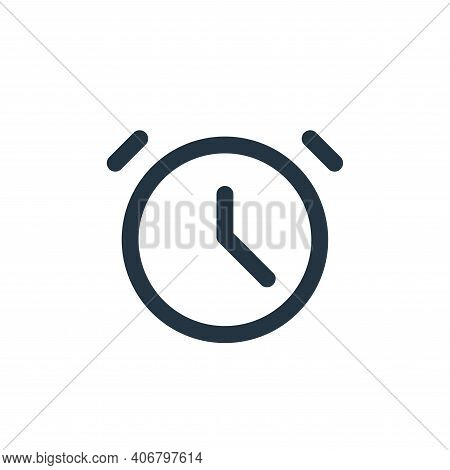 clock icon isolated on white background from user interface collection. clock icon thin line outline