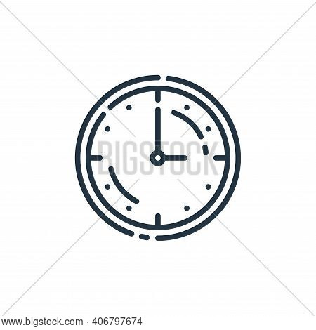 clock icon isolated on white background from startup collection. clock icon thin line outline linear