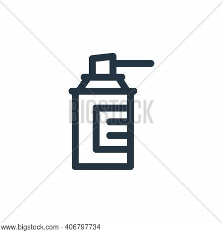 cleaning spray icon isolated on white background from medicine collection. cleaning spray icon thin