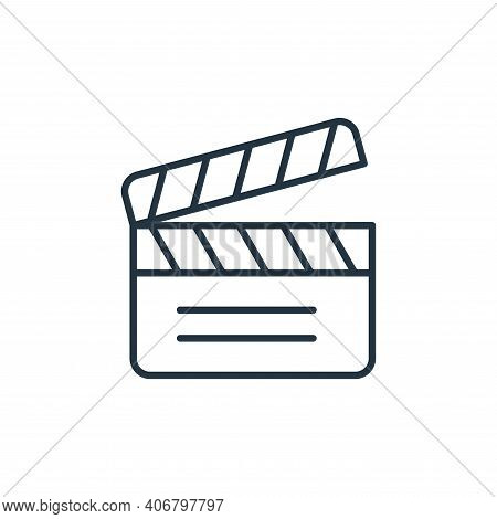 clapperboard icon isolated on white background from cinema collection. clapperboard icon thin line o