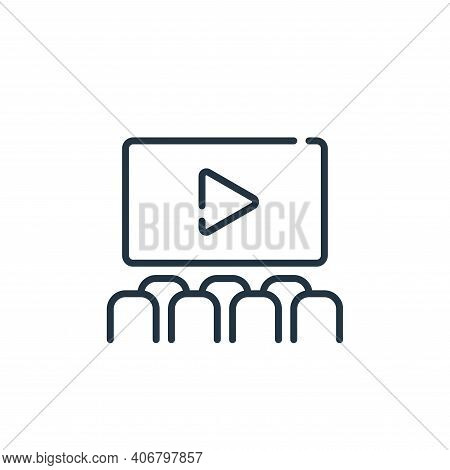 cinema icon isolated on white background from mall collection. cinema icon thin line outline linear