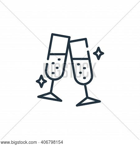 cheers icon isolated on white background from fame collection. cheers icon thin line outline linear