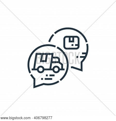 chat bubble icon isolated on white background from delivery collection. chat bubble icon thin line o