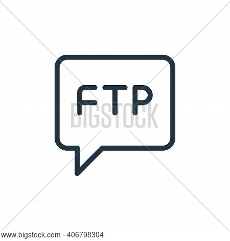chat icon isolated on white background from data transfer collection. chat icon thin line outline li