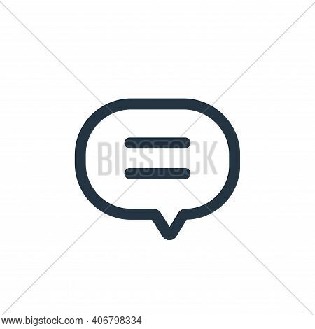 chat icon isolated on white background from interface collection. chat icon thin line outline linear