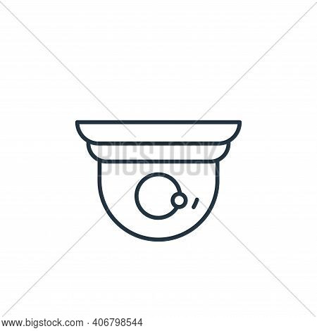 cctv icon isolated on white background from casino collection. cctv icon thin line outline linear cc