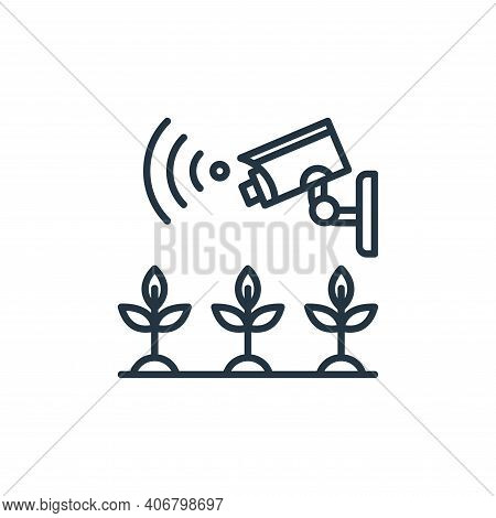 cctv icon isolated on white background from smart farm collection. cctv icon thin line outline linea