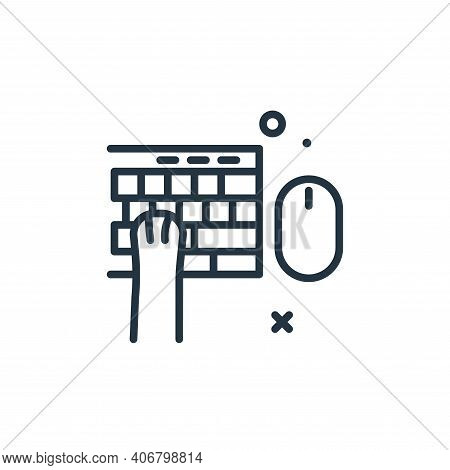 cat icon isolated on white background from work from home collection. cat icon thin line outline lin
