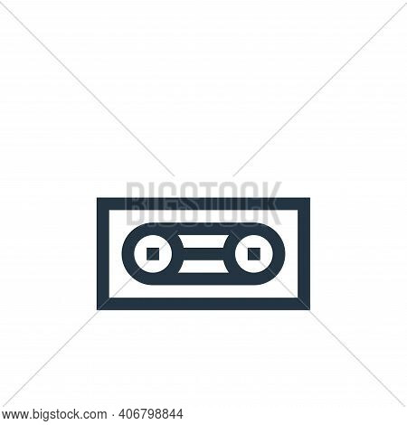 cassette tape icon isolated on white background from rock and roll collection. cassette tape icon th