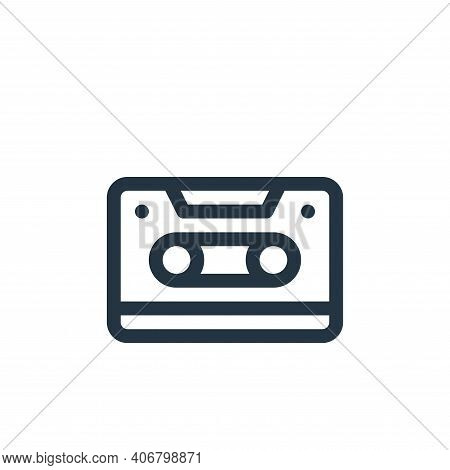 cassette icon isolated on white background from communication and media collection. cassette icon th