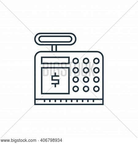 cash counter icon isolated on white background from online shopping collection. cash counter icon th