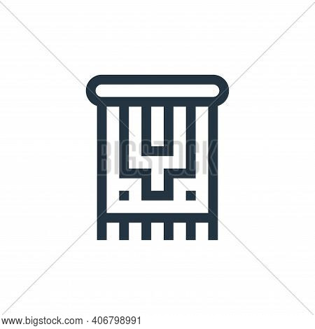 carpet icon isolated on white background from ramadan collection. carpet icon thin line outline line