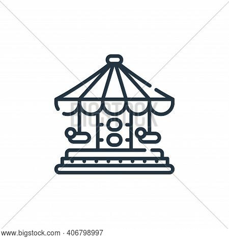 carousel icon isolated on white background from circus collection. carousel icon thin line outline l