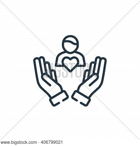 care icon isolated on white background from kindness collection. care icon thin line outline linear